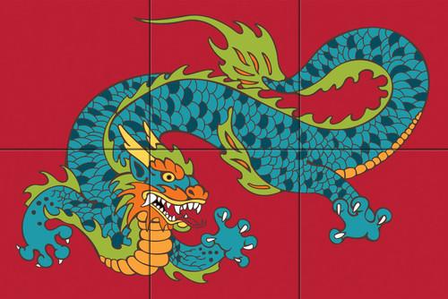 12x18 Tile Mural Dragon