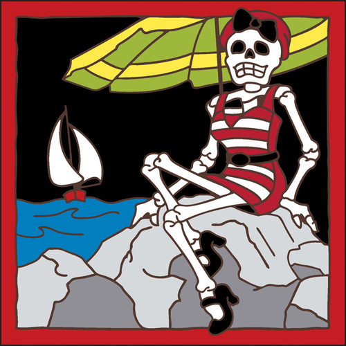 6x6 Tile Day of the Dead Bathing Beauty 7753A