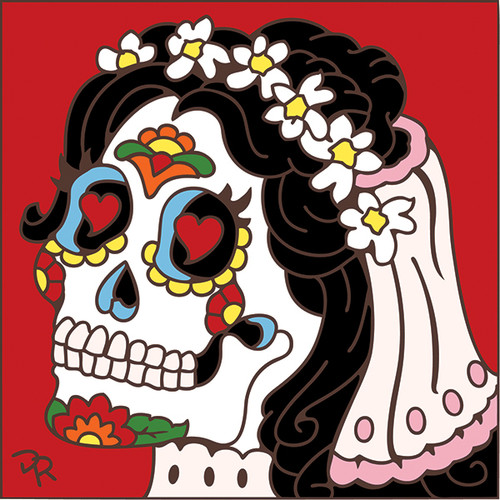 6x6 Tile Day Of The Dead Bride 7853A