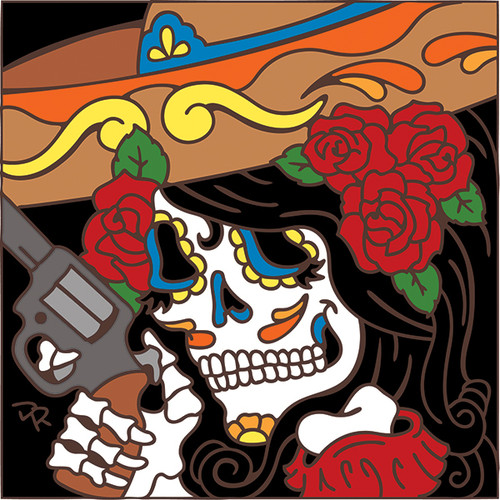 6x6 Tile Day of the Dead Bandita 7789A