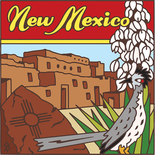6x6 New Mexico State Symbols Decorative Art Tile