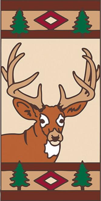 3x6 Tile Lodge Deer Left