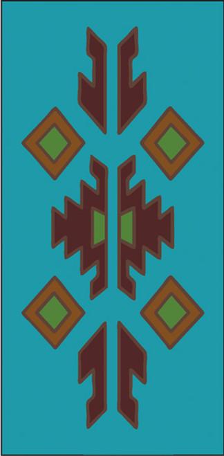 3x6 Tile Lodge Border Turquoise