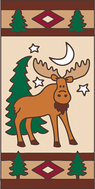 3x6 Tile Lodge Cutsey Moose Left