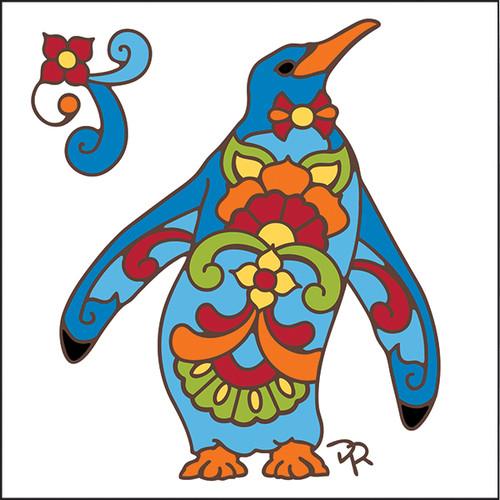 6x6 Tile Talavera Penguin White 8180W