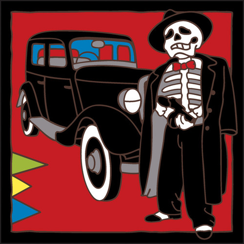 6x6 Tile Day of the Dead Gangster 7747A