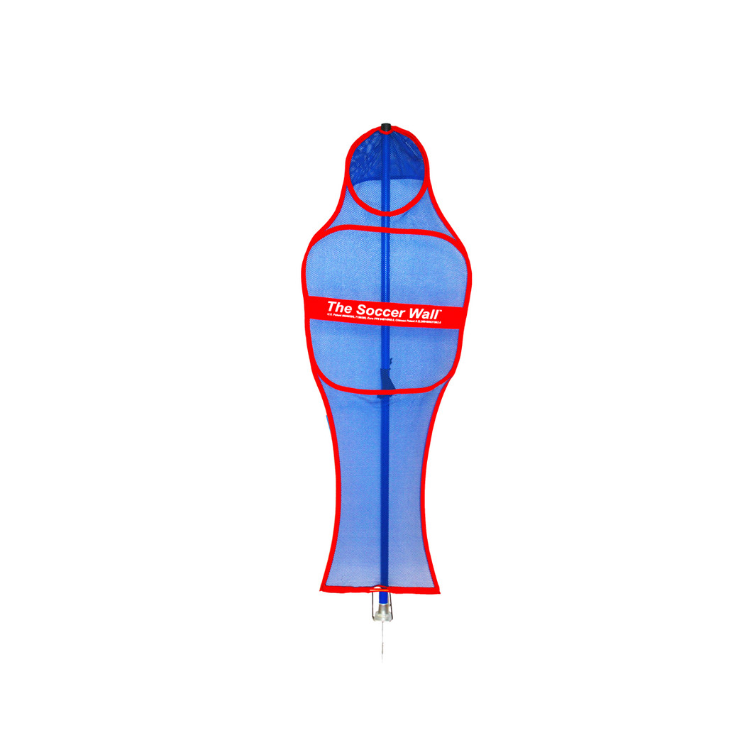 Blue Mesh Mannequin with Red Trim