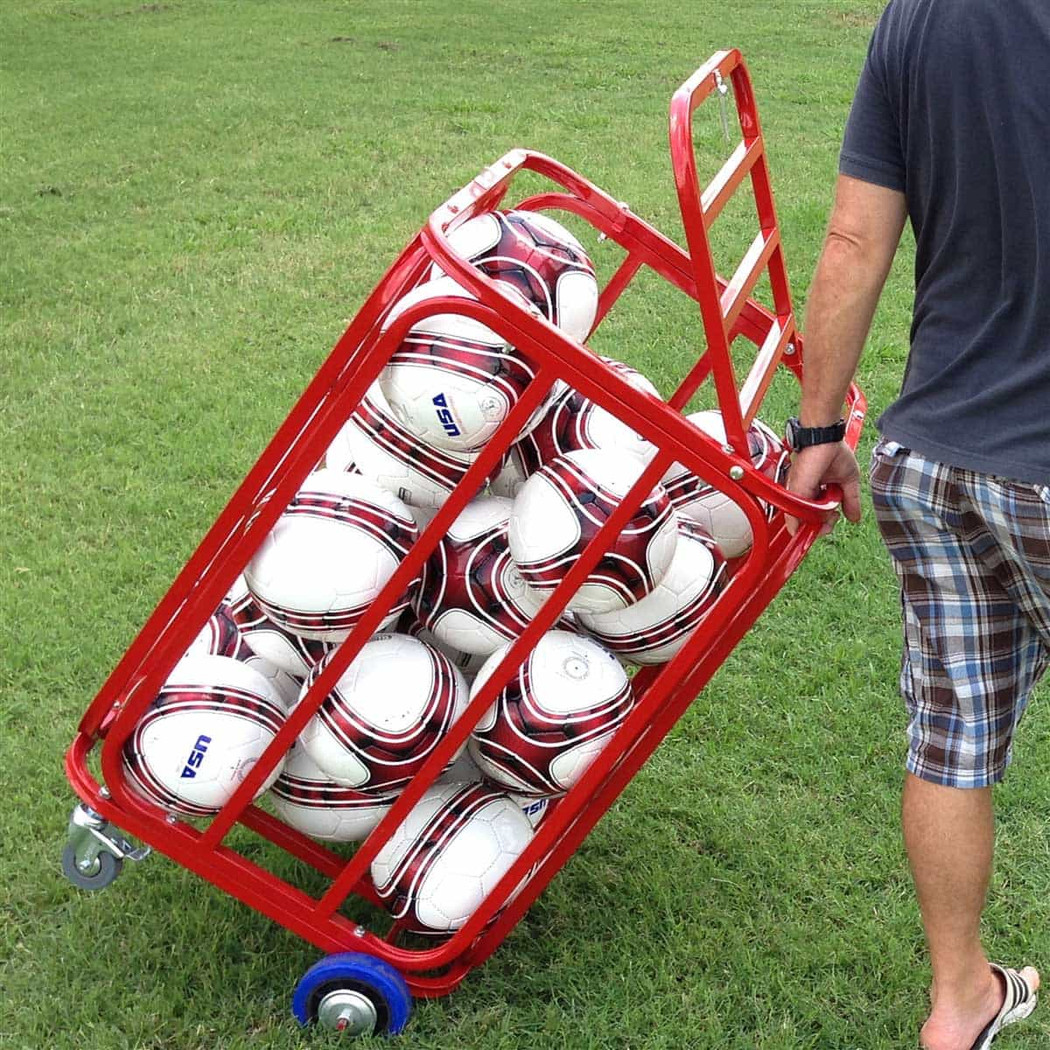 Soccer Ball Cart, Big Red Bayern (Holds 20+ Balls)