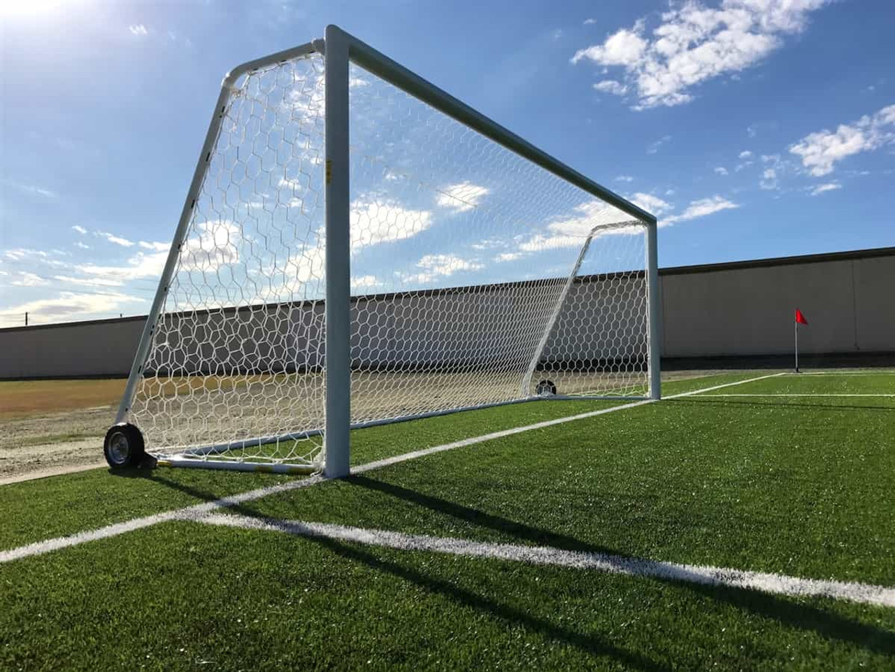 how to build a regulation size soccer goal