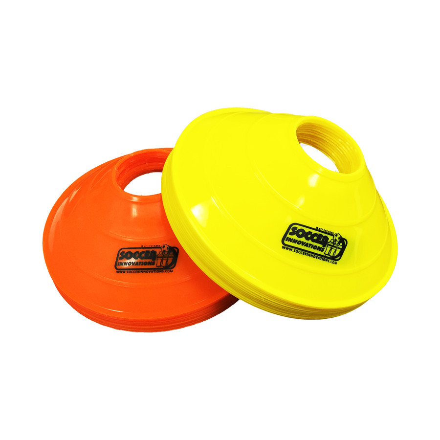 Soccer Disc Cone Set of 24 Deluxe Quality Disc Cones