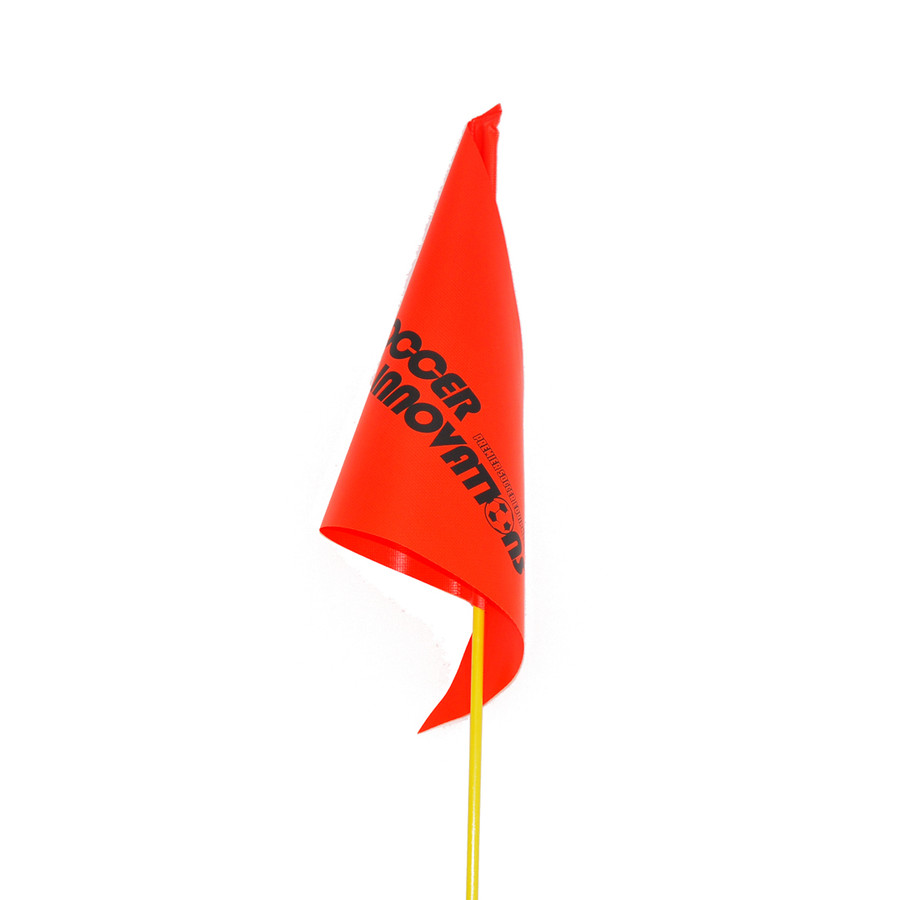 Soccer Corner Flag - Fiberglass, Orange