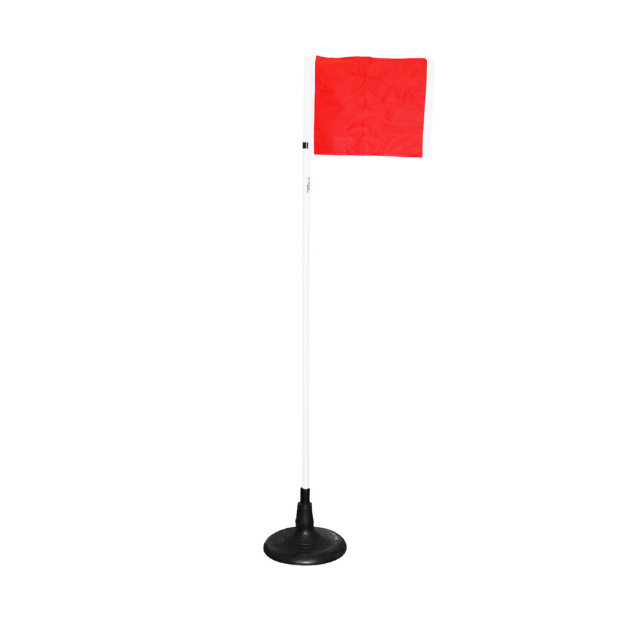 Soccer Corner Flag: 25mm w/Turf Base