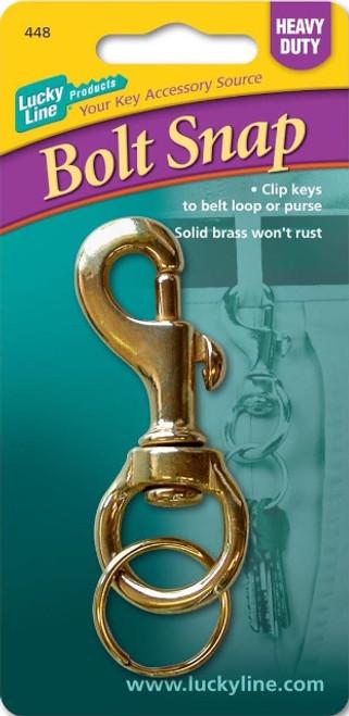 44801: HEAVY DUTY BOLT SNP,BRASS,1/CD
