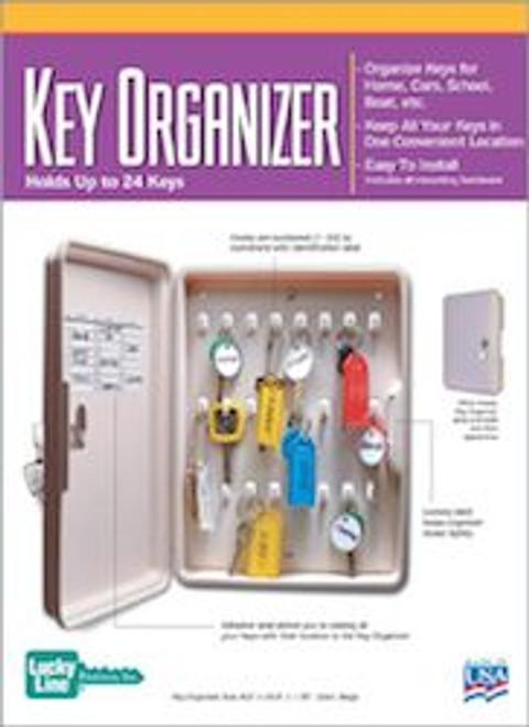 61000: KEY ORGANIZER,PLASTIC,1/BX