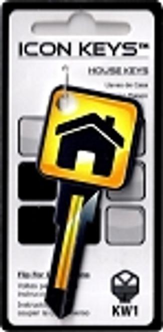 9663-Yellow Icon House Key