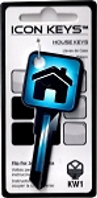 9668-Blue Icon House Key