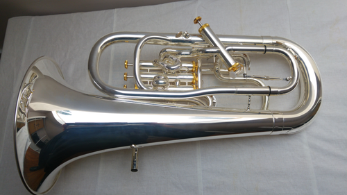 Meinl 551 Euphonium Silver Plated and with Gold Plated Valve Caps