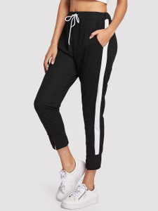Women's NIMBA Panel Jogger Pants by Fifth Avenue - Black and White