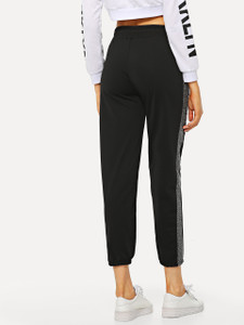 Women's TYGG Contrast Panel Track Pants by Fifth Avenue - Black