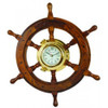 36 Inch Ship Wheel Porthole Clock