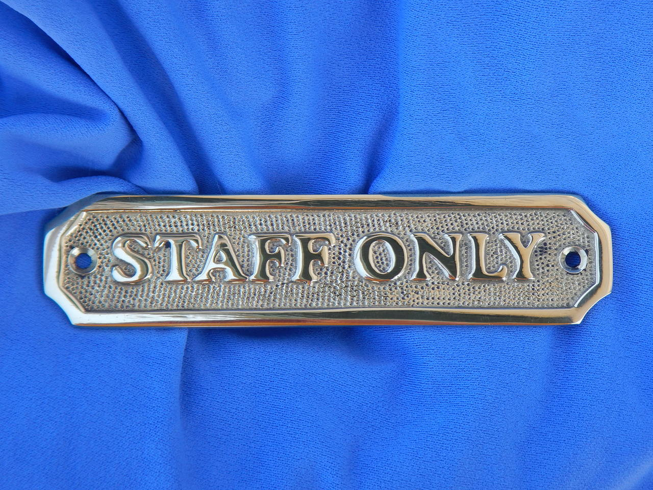 6 Inch Brass Staff Only Plaque