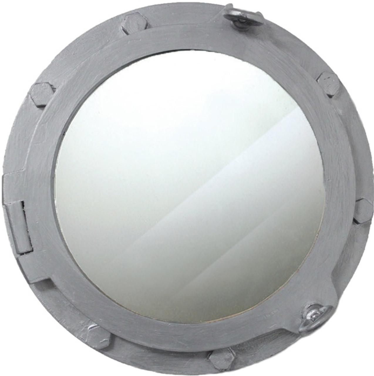 decor mirror aluminum portholes chrome wall ships nautical porthole home finish