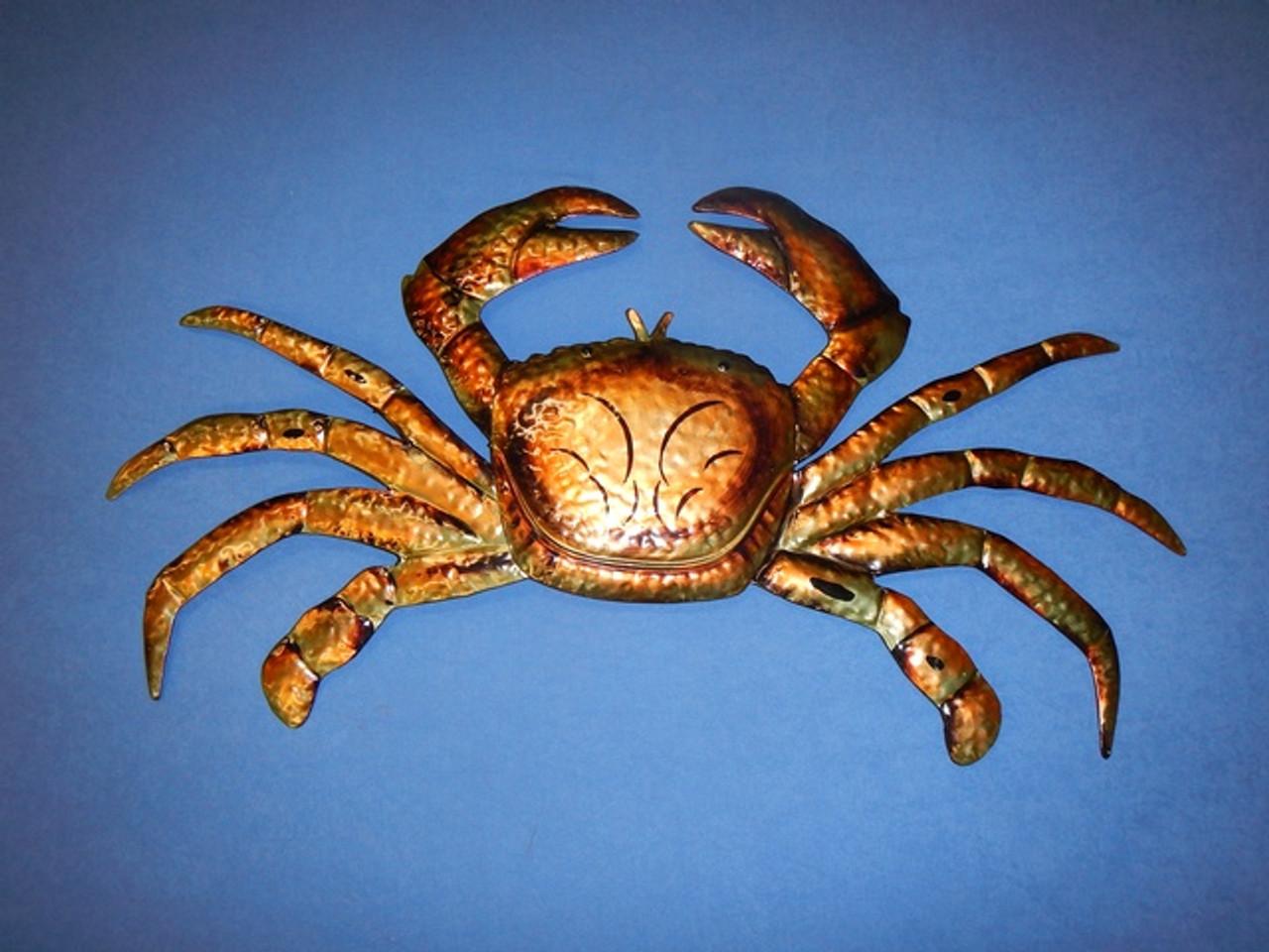 Large Metal Crab Wall Art