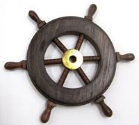 distressed white ship wheel decor Small French Normandy Style Homes New England Colonial Style Homes