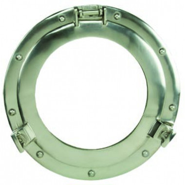 Nickle Finish Porthole Mirror