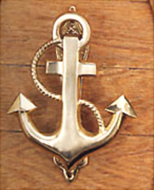 & Solid Brass Fouled Anchor Door Knocker