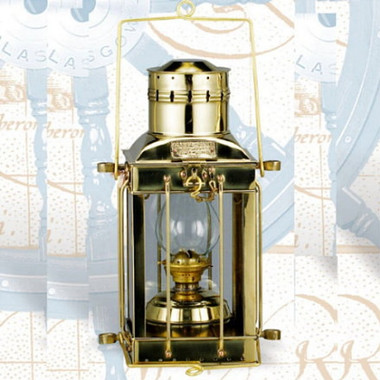 Brass 15 Inch Cargo Lamp Lantern For Sale