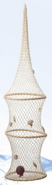 """41"""" Hooped Fish Nets with Shells"""