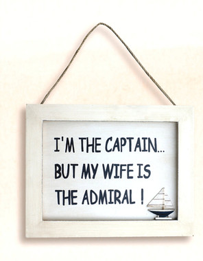 Wife Is the Admiral Plaque Wall Hanging