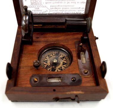 Antiqued Spirit Level Alidade Clinometer