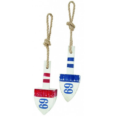 2/Set Coastal Red White Blue Wooden Floats