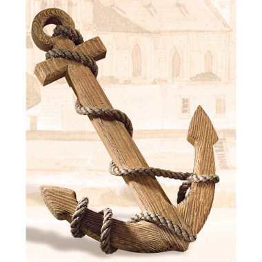 Nautical Wood Ships Anchor Wall Decor