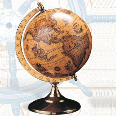 Medium Sized Old World Globe With Stand