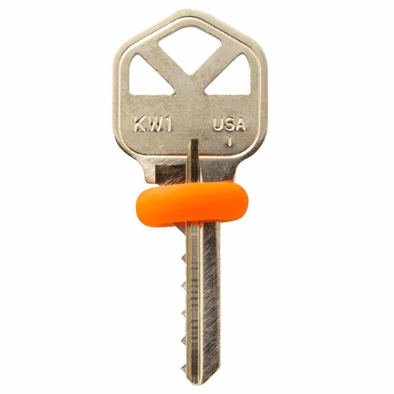 house key. Exellent Key Kwikset KW1 House Key  With Bump ORings In