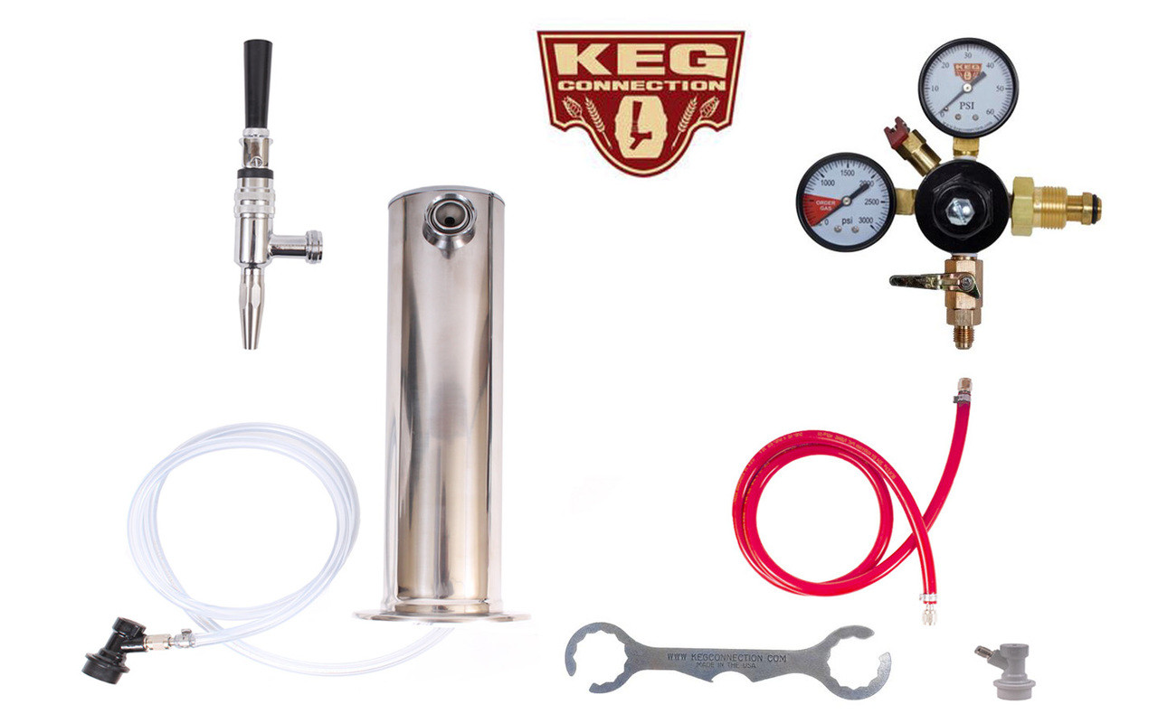 1 Faucet Tower Cold Brew Coffee & Nitrogen Infused Kit - Kegconnection