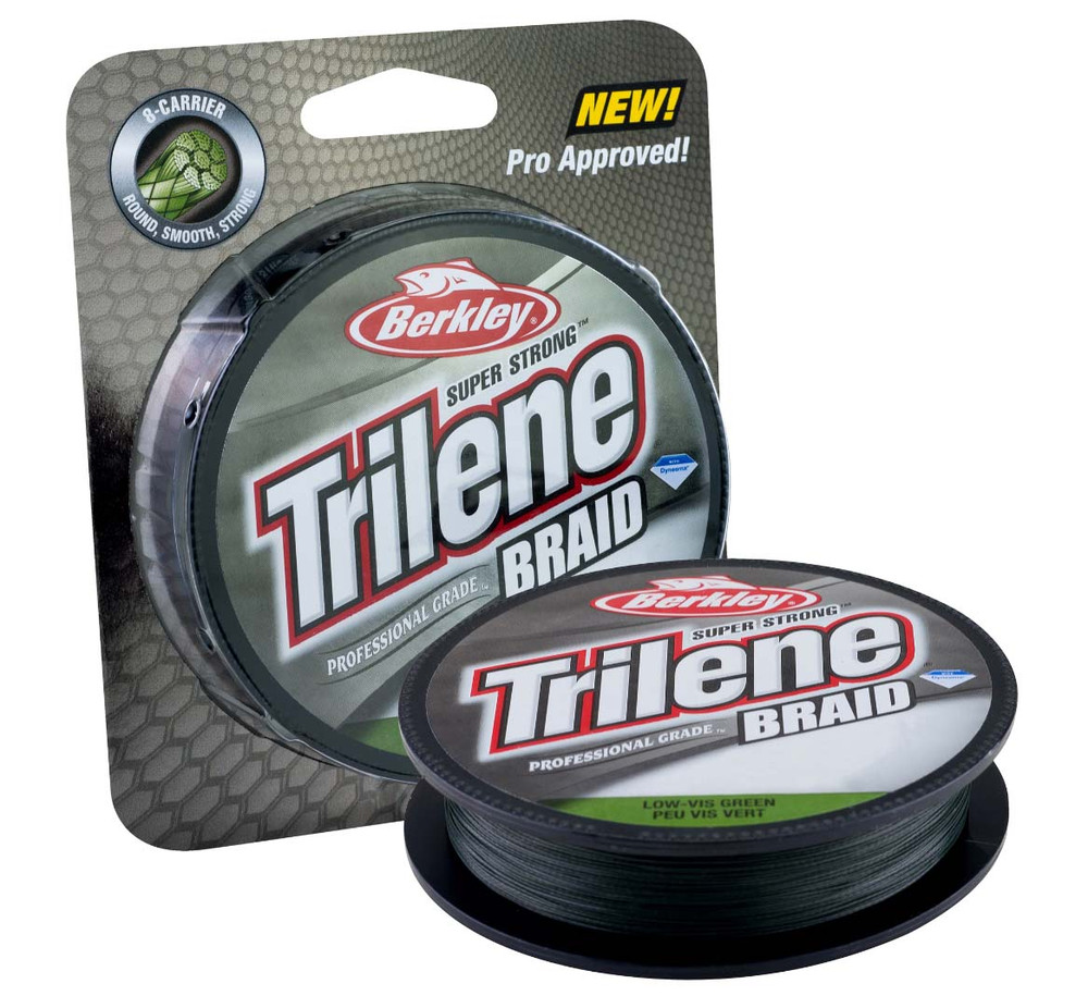 Línea de Pesca Trenzada Berkley Trilene Braid - Low-Vis Green