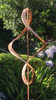 Stanwood Wind Sculpture: Kinetic Copper Dual Helix Spinner