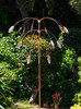 Stanwood Wind Sculpture: Kinetic Copper Triple Spinner - Falling Foliage