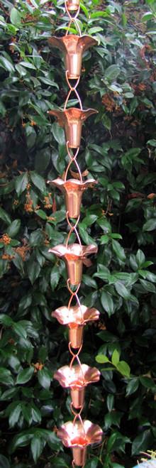 Stanwood Rain Chain Copper Rain Chain Morning Glory