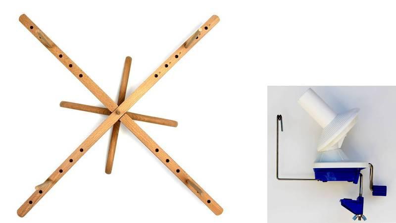 Stanwood Needlecraft - Tabletop Amish Style Yarn Swift / Ball Winder YBW-A Combination #3