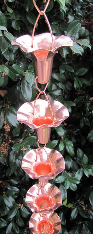 Stanwood Rain Chain: 2-ft Extention Rain Chain Morning Glory Flower