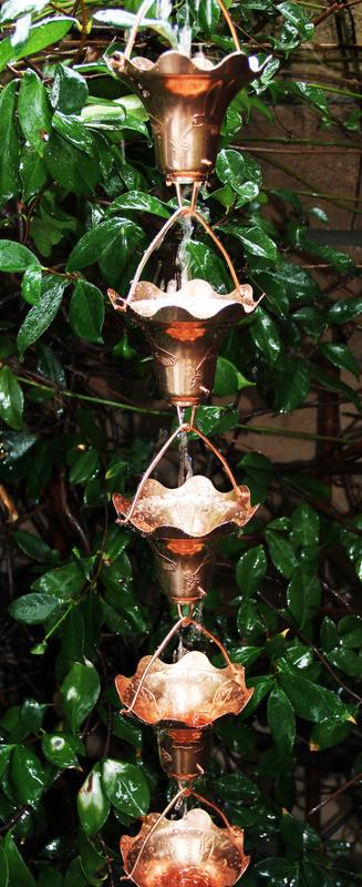 Stanwood Rain Chain: 2-ft Extention Rain Chain Hummingbird and  Flower