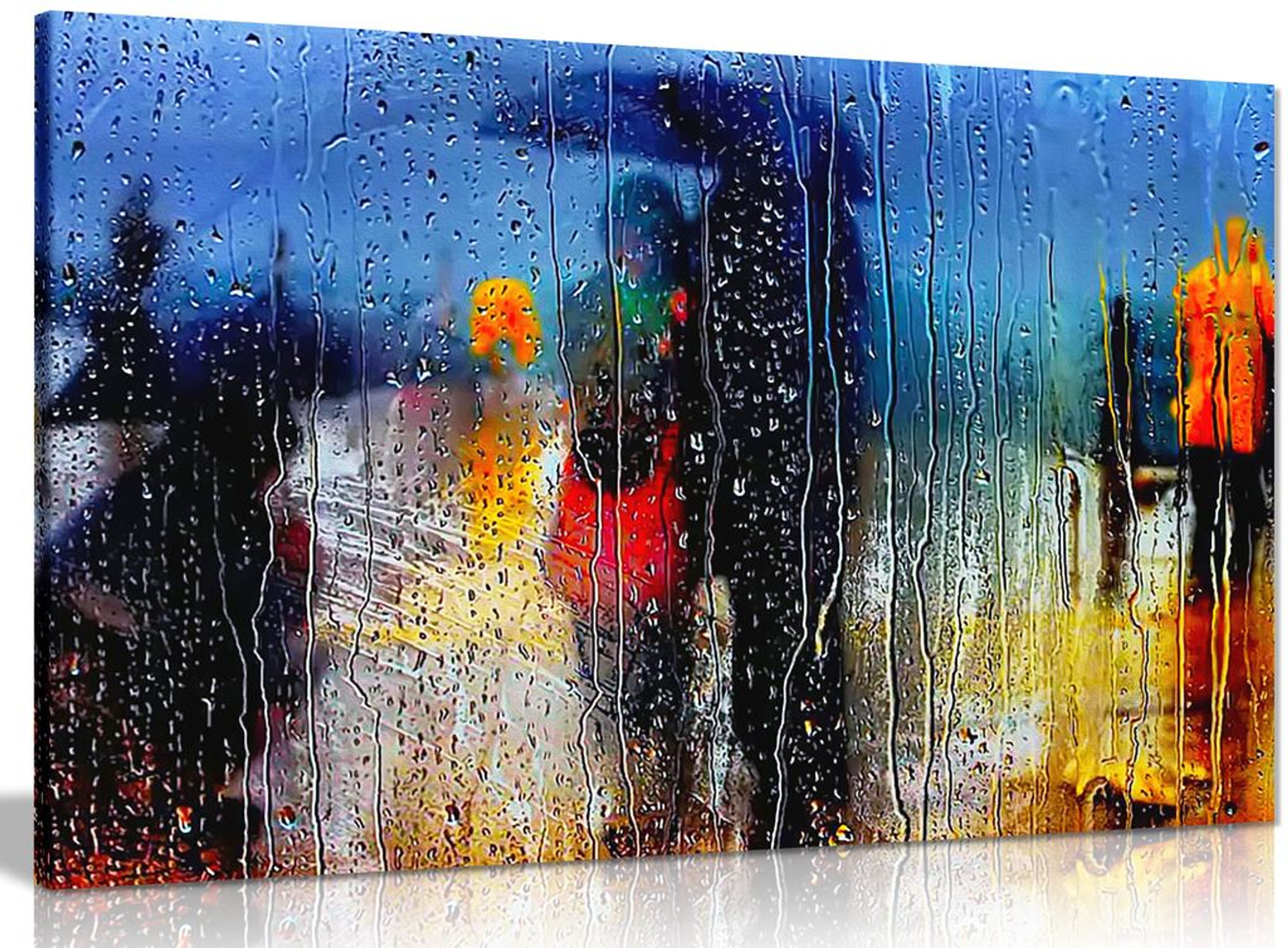 Abstract Art Romance In The Rain Canvas