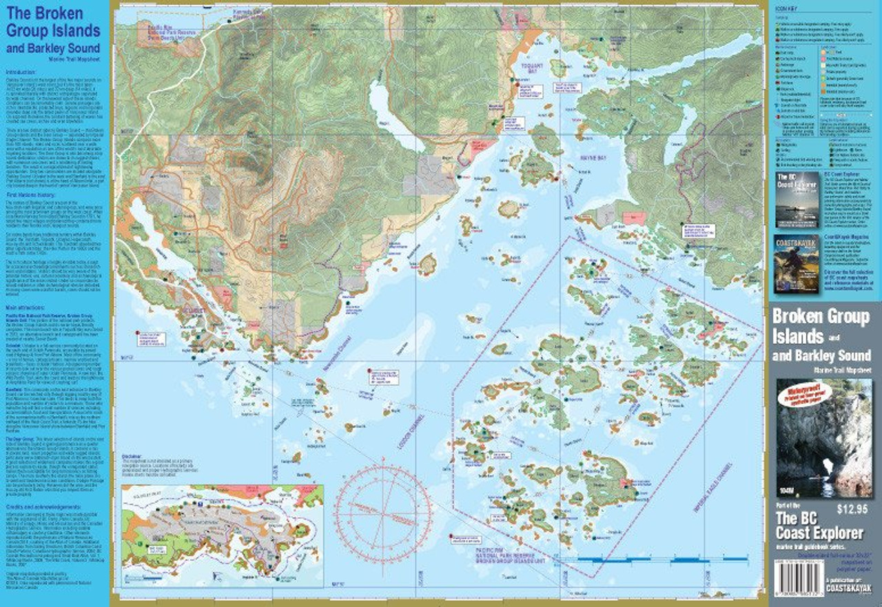 Broken Group Islands Barkley Sound Waterproof Map