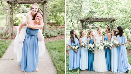 "When Your Bridesmaids Are Your ""Something Blue"" You're Guaranteed A Happily Ever After"