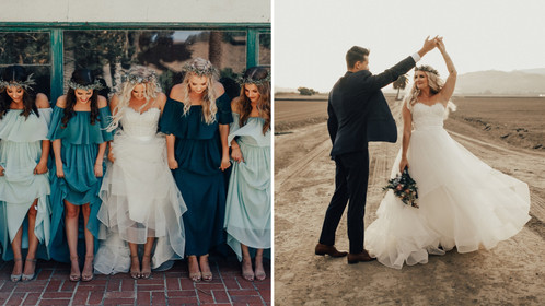 """This Dreamy Desert Wedding Is The True Definition of """"Blue-tiful"""""""